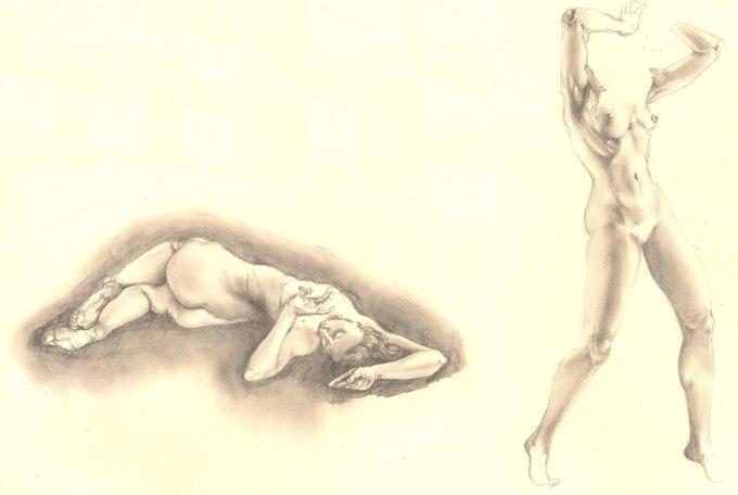 sketchbook series - female studies